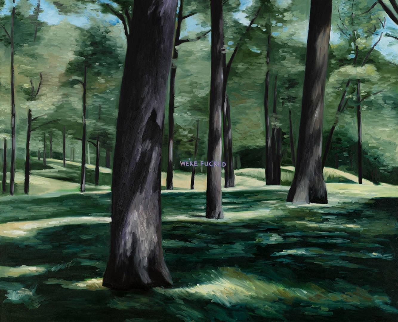 Kiss This Goodbye (1984) Joanne Tod (1953 - ) Huile sur toile Collection : Banque d'art du Conseil des arts du Canada