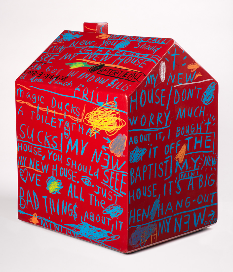 My House (1991) Shane Davis (1957 - ) Émail, crayon à l'huile, etc., sur bois Collection : Banque d'art du Conseil des arts du Canada