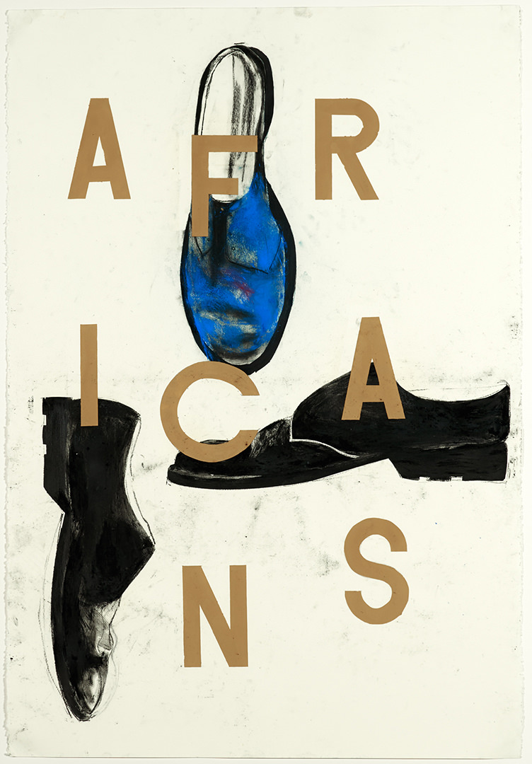8 / 17 Tripartite Africans (1989) Trevor Gould (1951 - ) Pastel et pigment sur papier Collection : Banque d'art du Conseil des arts du Canada
