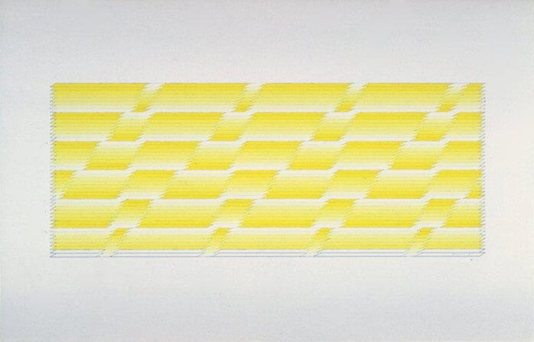Michael Morris, Untitled I (1975). Gouache sur papier.