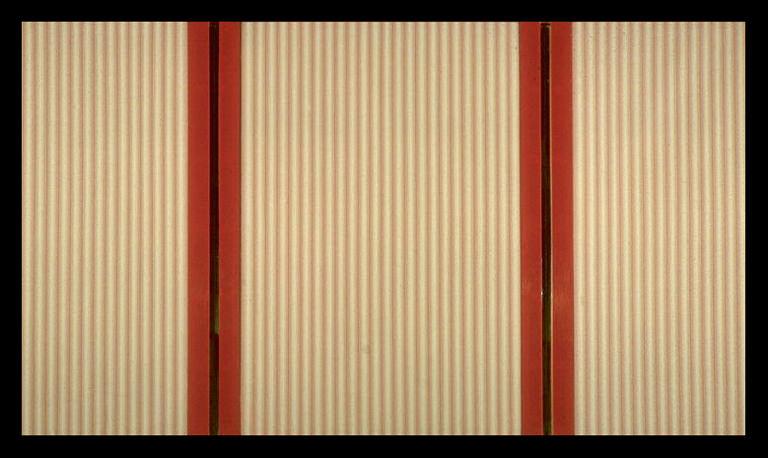 Michael Morris, Peking Letter (1968). Acrylique sur toile, miroirs, etc.