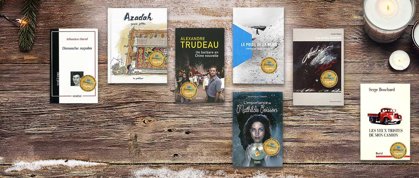 Gagnants de langue française 2017 des Prix littéraires du Gouverneur général de 2017