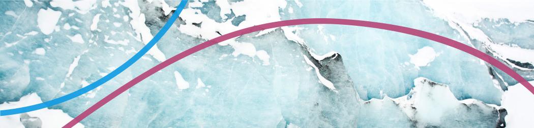 Montagnes recouverted de neige - bannière pour le programme Explorer et créer